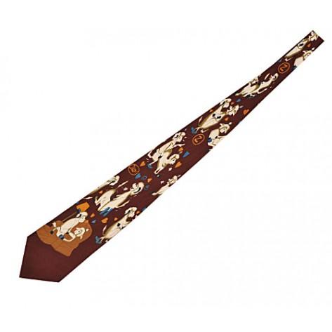 Cravata funny - culoare caramiziu...OFERTA !!