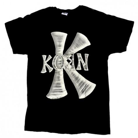 Tricou Korn - logo alb