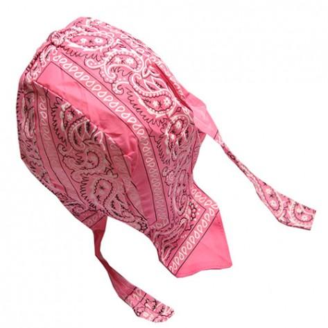 Du-rag ( bandana pt. cap ) floral roz inchis