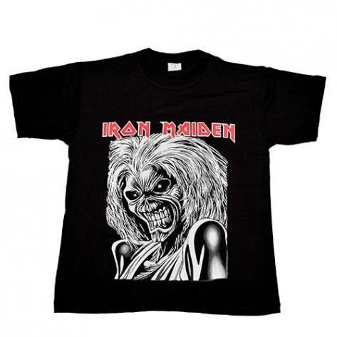 Tricou  Iron Maiden - Killers (  satar ) - logo rosu