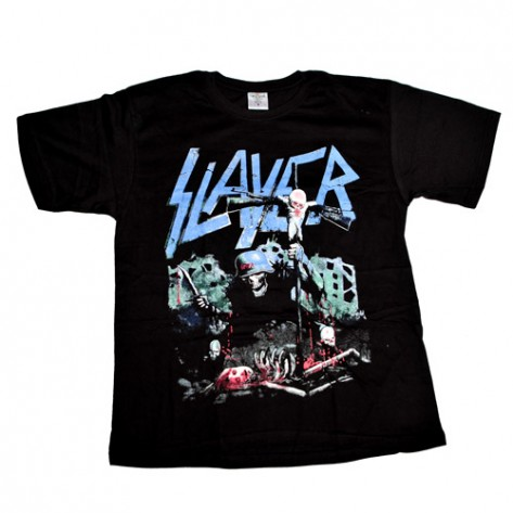 Tricou  Slayer - Death Soldier ( logo albastru )