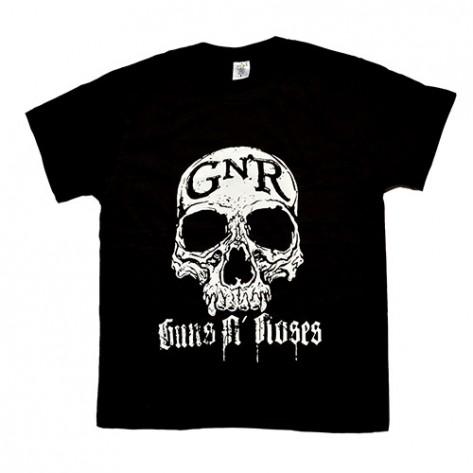 Tricou Guns N Roses - craniu alb
