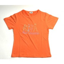 Tricou dama - Night Dancers  - orange...OFERTA !!