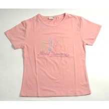 Tricou dama - Night Dancers - roz...OFERTA !!
