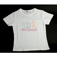Tricou dama-  Night Dancers - alb..OFERTA !!