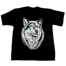 Tricou - Lup cu ochii verzi ( wolf with green eyes )