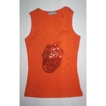 Maieu dama - Rolling Stones- limba ( portocaliu )........OFERTA !!