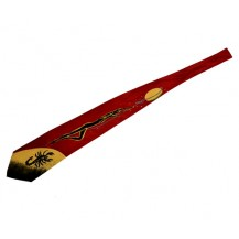 Cravata rosie - femeie  si scorpion..OFERTA  !!!