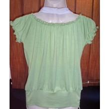 Tricou bluza si maieu  dama - Metrofive-verde cu alb...OFERTA !!