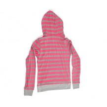 bluza dama cu gluga -  dungi roz si gri...OFERTA  !!