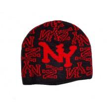 Caciula New York -  culoare rosie si  negru....OFERTA !!