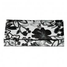Portofel dama - Model - Desigual   - floral ( alb cu negru )