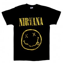 Tricou Nirvana - Smiley ( model vintage )