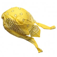 Du-rag ( bandana pt. cap ) floral galben