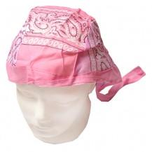 Du-rag ( bandana pt. cap ) floral roz