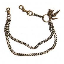 Lant de pantaloni, Solid Steel, bronz auriu - Gheare si carabine
