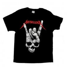 Tricou Metallica -  Skull and Fingers
