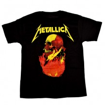 Tricou Metallica - band - logo in flacari