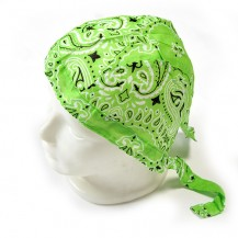 Du-rag ( bandana pt. cap ) floral verde