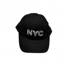 Sapca NYC - dama - neagra cu pietre