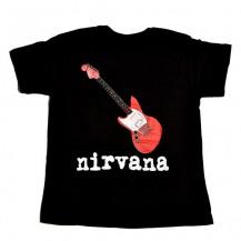 Tricou Kurt Cobain - Nirvana -  Red Guitar
